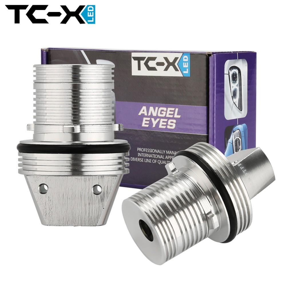 TC-X 2 Pcs 10W 6000K Angel Eyes LED Marker Lights Halo Rings for BMW E39 E53 E65 E66 E60 E61 E63 E64 E87 Car Bulbs High Quality