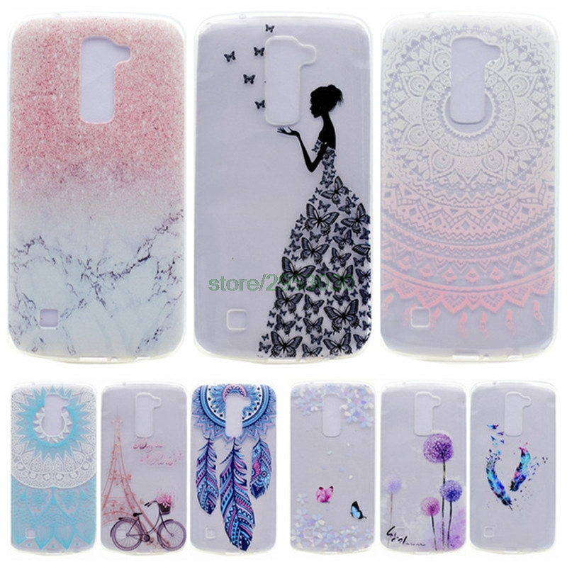 Soft Slim TPU Case for LG K7 K 7 LGK7 / X 210 X210 DS Cute Silicone Phone Cases For LG K7 Dual SIM / Tribute 5 LS675 Back Cover