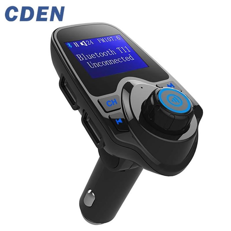 Автомобил Mp3 аудио плейър Безжичен Bluetooth FM предавател Модулатор Хендсфри комплект за кола LCD Dual USB зарядно за iPhone Samsung T11
