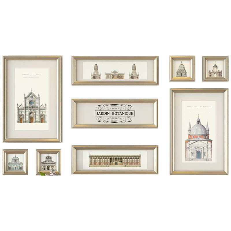 9 Pieces/Lot Photo Frame Collage Frames Colored Picture Frames ...