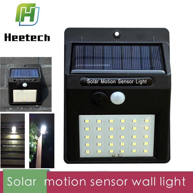 Светодиодный настенный на солнечной энергии свет движения PIR Сенсор 20/30 светодиодный s Открытый Водонепроницаемый энергосберегающие уличные Сад Двор охранный светодиодный фонарь
