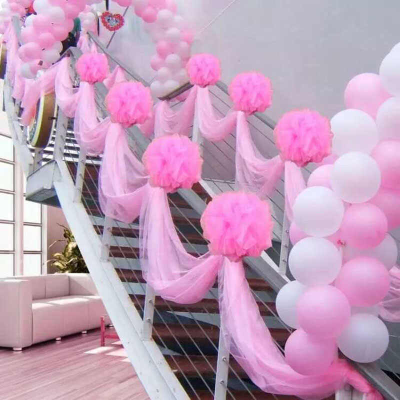 Wedding Veil Flower Ball Bride Room Decoration Stairs Pull