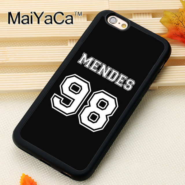 newest 034cf d3e94 US $3.22 10% OFF|MaiYaCa Shawn Mendes 98 Printed Mobile Phone Cases  Accessories For iPhone 6 6S Plus 7 8 Plus X 5S 5C SE 4S Soft TPU Back  Cover-in ...