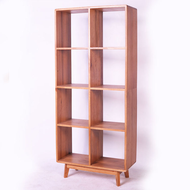 Japanese Wood IKEA Shelves White Oak Solid Wood Furniture Combination  Bookcase Study Environmental Showcase Racks
