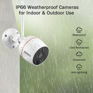 Image 5 - ANNKE RU מכירה 4CH 1080P אלחוטי אבטחת CCTV מערכת Wi Fi מיני NVR ערכת מעקב IP אלחוטי מצלמות PIR SD כרטיס הקלטת