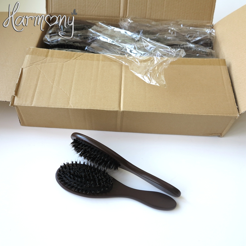 20pcs Professional Natural Hair Extension Brush Boar Bristle Brush Hair Wood Bristle Brush Bristles Mix Nylon