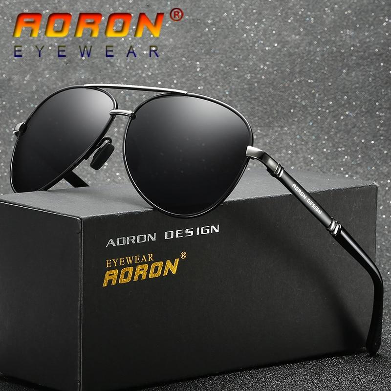 0d3a084d3ef62 AORON Men s Sunglasses Brand Designer Pilot Polarized Male Sun Glasses  Eyeglasses gafas oculos de sol masculino