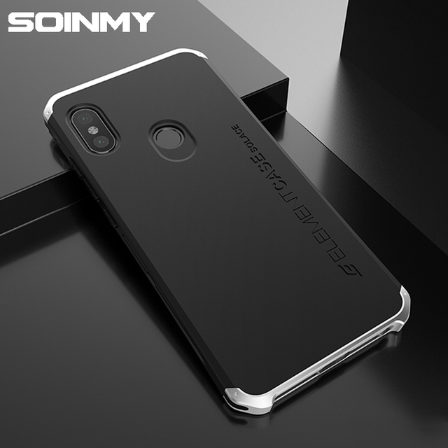 buy online 362ef 79ee7 US $14.81 |Soinmy Shockproof Armor phone case for xiaomi redmi note 5 case  metal frame back cover redmi note 5 case pro luxury note5 fundas-in Fitted  ...