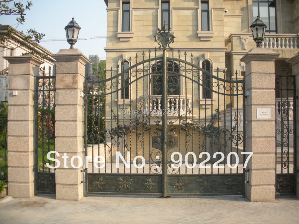 We custome wrought iron gates wrought iron gate for home for Main gate door design