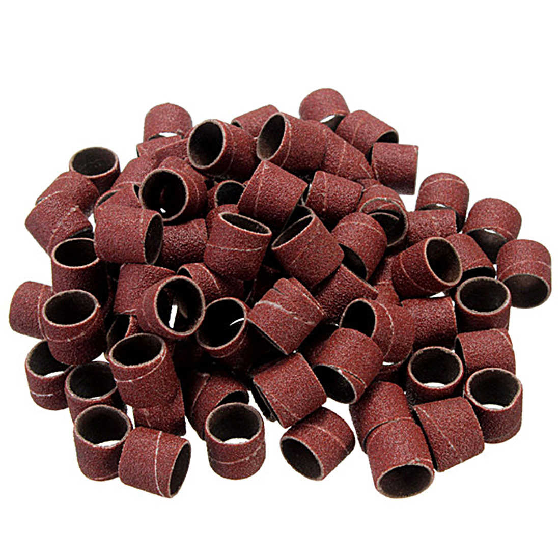 "10 piezas 12,5 MM tambor lijado Kit + 1 piezas banda mandril 1/8 ""mango herramienta rotativa de brocas herramientas abrasivas accesorios Dremel"