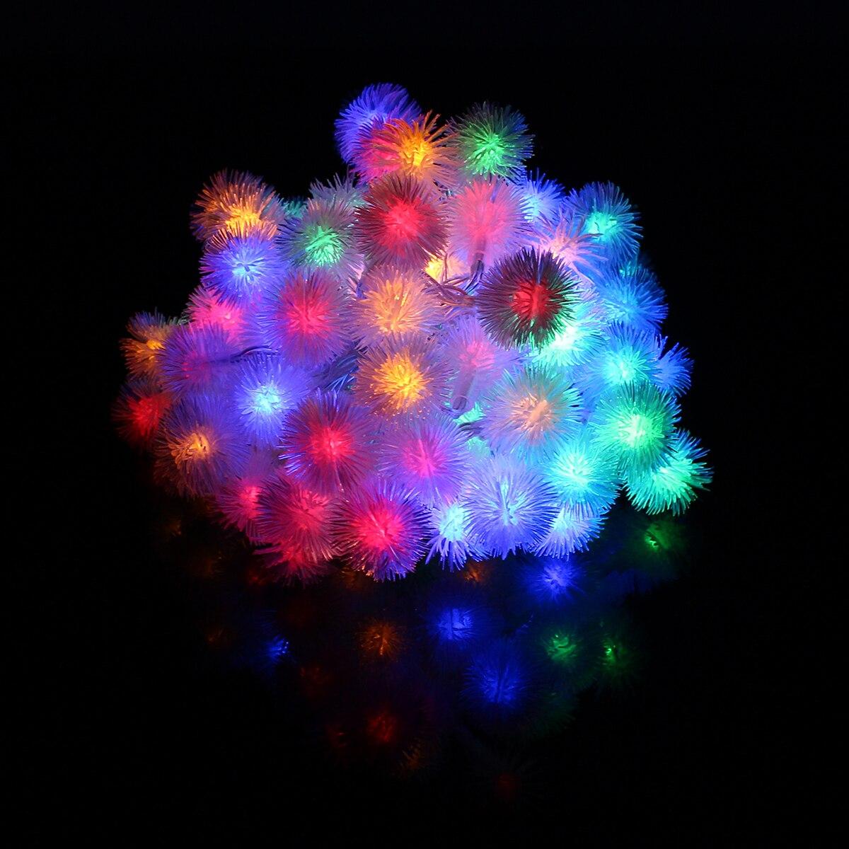 2.4W Battery LED String Snowball10M 80Led Holiday String Lights Party Christmas Wedding Decor DC4.5V