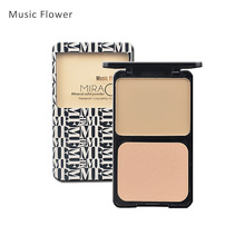 Music Flower Face Makeup Base Pressed Powder Matte Shimmer Fix Palette Concealer Contour Nude Compact Cosmetics With Puff