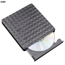 KuWFi DVD RW USB 3.0 Portable Ultra Thin External Optical Drive CD Rom Tray Burner Reader Date Transfer for Notebook Laptop