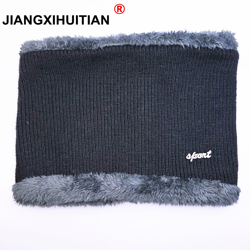 jiangxihuitian Balaclava Knitted hat scarf cap neck warmer Winter Hats For Men women   skullies     beanies   warm Fleece dad cap