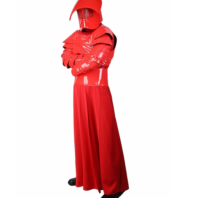 X-COSTUME Star Wars Episode VIII: The Last Jedi Movie Elite Praetorian Guard Suit Outfit PU Leather & Terylene Cosplay Constumes 2