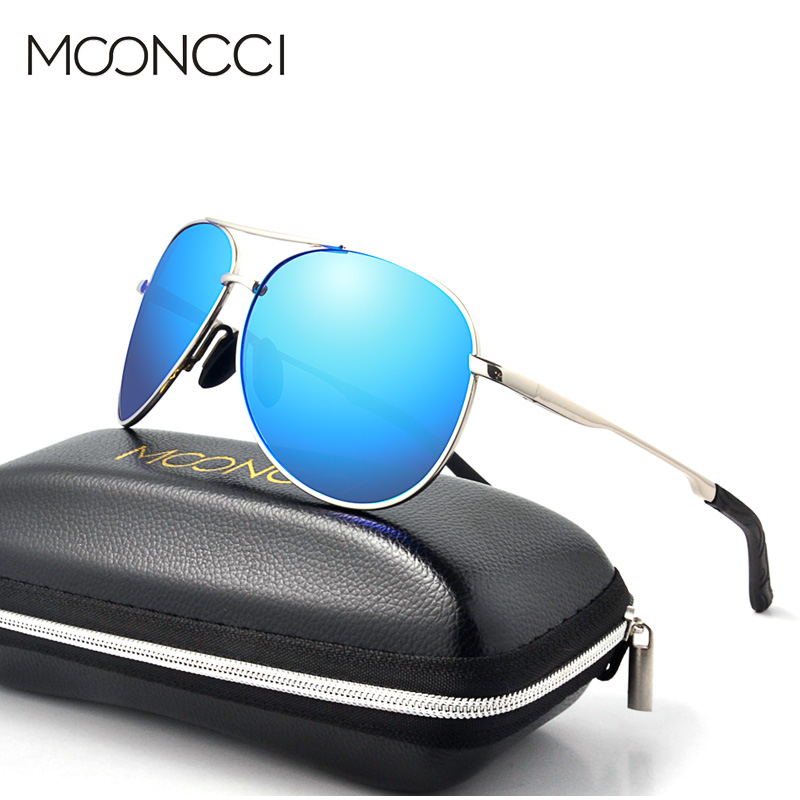MOONCCI Brand Ray Pilot Sunglasses Men Polarized Coating Mirror Pilot Sun Glasses for Men Women Driving Outdoor Glasses Gafas ...