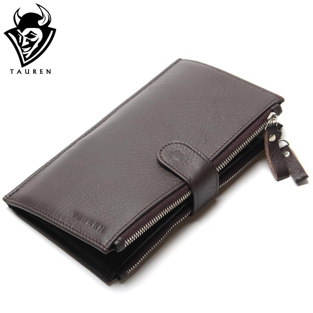 Wholesale China Manufacturer Man Wallet 100% Genuine Leather Coffee Color Large Capacity Men's Vintage Wallets wholesale china sv011 20pcs lot m6x17