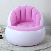 Flocking Inflatable Sofa Lazy Sofa Chair Single Foldable Cute Creative Children Sofa Bedroom Living Room Sofa