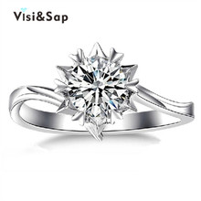Vissap Ring Set S925 Star Wedding Rings For Women White Gold plated Engagement Vintage zirconia bijoux HOT SALE Wholesale VSR015