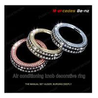 Perfect Zinc alloy diamond Air conditioning knob decoration circle Set auger sticker for Merc edes Be nz A B CLA GLA class