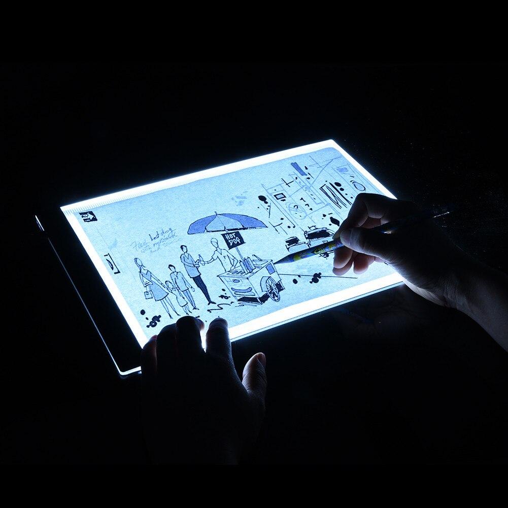 USB Eu-stecker Ultradünne A4 Qualität Praktische 4mm Zeichnung Kopie Bord Animation Kopie Tracing Pad Bord LED-Licht Ohne strahlung