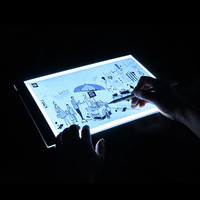 USB EU Plug Ultrathin A4 Quality Pratical 4mm Drawing Copy Board Animation Copy Tracing Pad Board