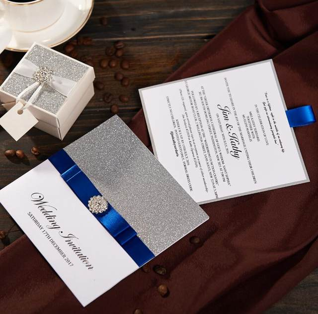 Online Shop Traditional Pocket Wedding Invitations With Rsvp Card