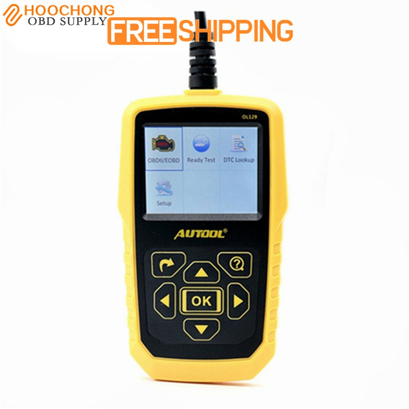 AUTOOL OL129 OBD2/EOBD CAN Universal Automotive Scanner Engine Error Diagnostic Tool With Battery Power Superior Than AUTEL 519 100% original launch creader 519 odb obd2 scanner for obd2 can eobd jobd cars cr519 diagnostic tool free gift brake fluid tester