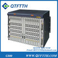 Original ZTE ZXA10 C300 GPON OLT equipment, with one 8-port GPON GC8B included, with 8 SFP Module