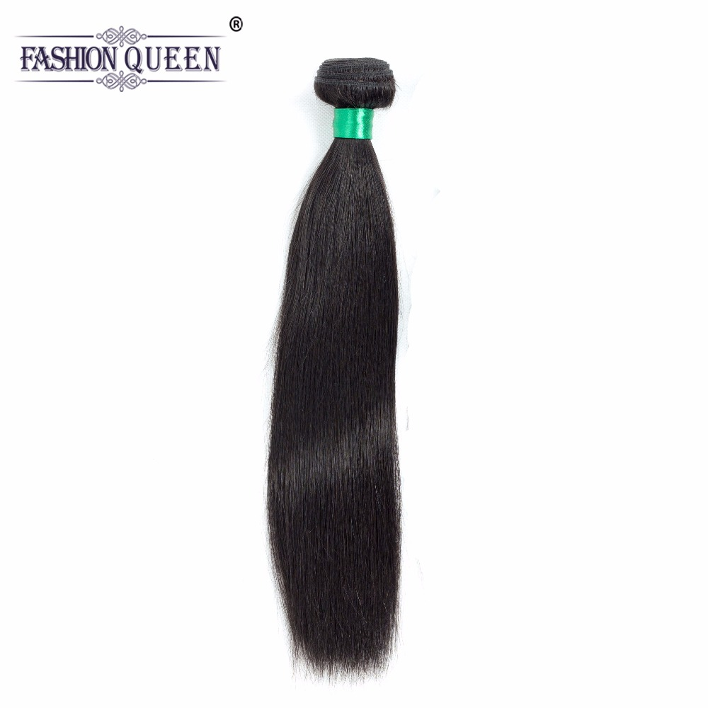 Fashion Queen Hair Brazilian Hair Weave Bundles Straight 100% Human Hair Weft Non Remy Hair Weaving Shipping Free 100g/Bunble