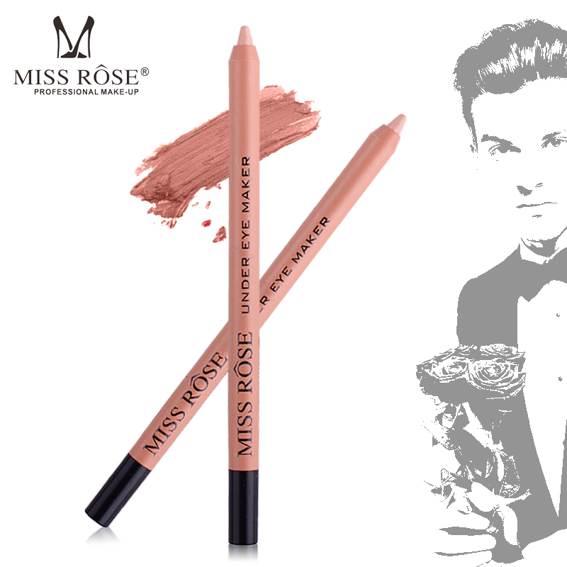 Miss Rose Brand Cosmetics Eyeliner Pencil Best Waterproof Concealer Light Clair White Colored Highlighter Eyeliner Makeup Tools