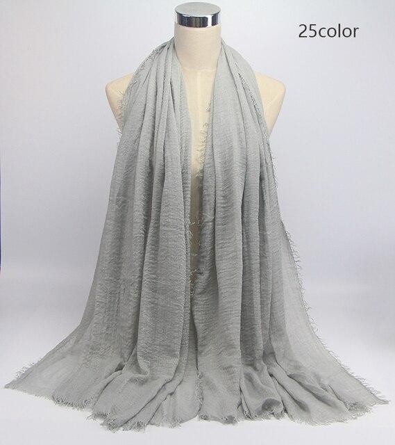 wholesale price 70*180cm women muslim crinkle hijab scarf 3