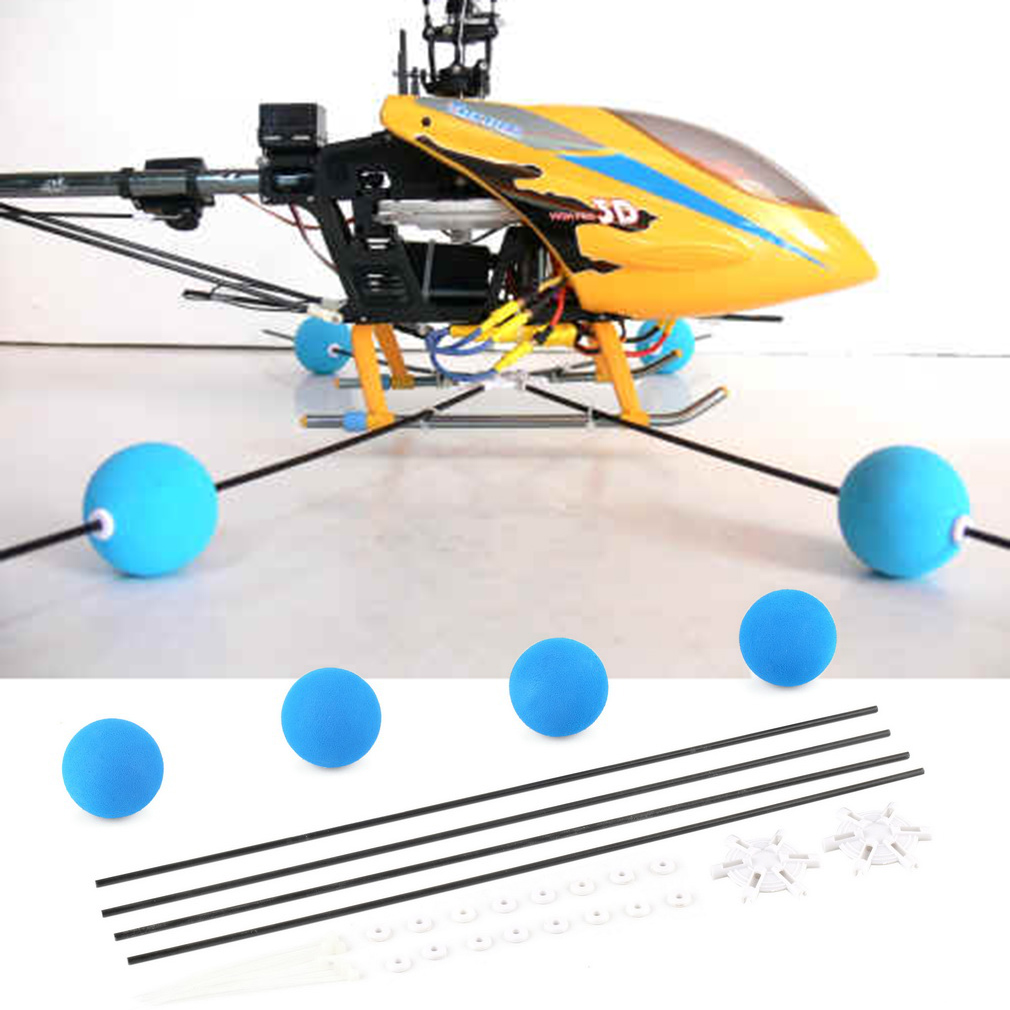 Hot! RC Drone Training Gear Sponge Ball Kit For RC Walkera Trex Align 400 450 RC Helicopter Parts&Accessories Wholesale
