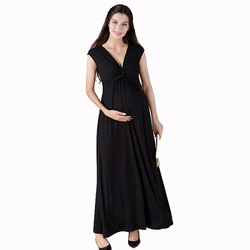 High Quality Summer S-3XL Tencel Ankle-Length Maternity Dress Pregnancy Clothes Elegant Lady Prom Party Vestidos Beach Gowns