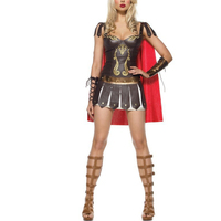 Pu Leather Roman soldiers Costumes Female Spanish Gladiator Cosplay Women ancient Greek war Fancy Dress sexy Halloween Costumes