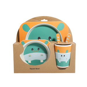 5 шт./компл. набор посуды для малышей, обеденная тарелка для младенцев, Экологически чистая посуда из натурального бамбукового волокна, посу...