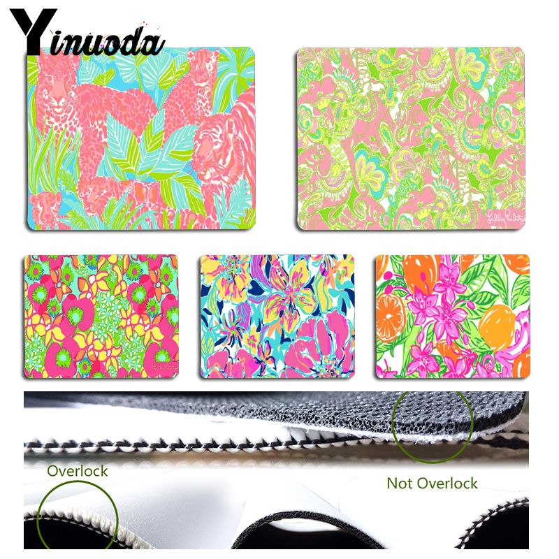 Yinuoda Lilly Pulitzer Summer flower Animal Tiger Fruit Laptop Gaming Mice  Mousepad Size for 180x220x2mm and 6b206c5921c7