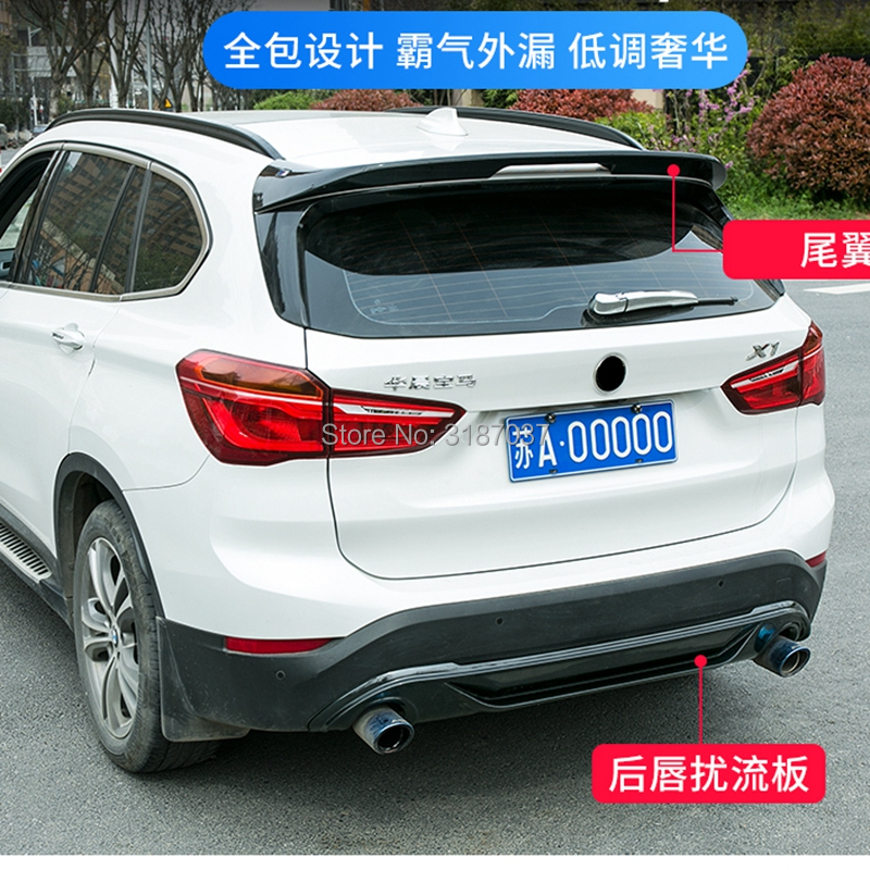For BMW X1 2016 2017 2018 2018 rear spoiler ABS Plastic Painted Color Rear Roof Spoiler Wing Trunk Lip Boot Cover Car StylingFor BMW X1 2016 2017 2018 2018 rear spoiler ABS Plastic Painted Color Rear Roof Spoiler Wing Trunk Lip Boot Cover Car Styling