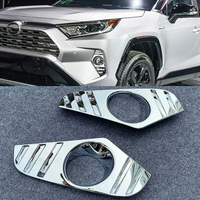 For Toyota RAV4 2019 2020 ABS Chrome front fog lamp cover head fog light cover trim abs chrome 2pcs Car Styling auto accessories