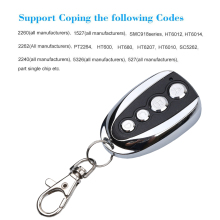 Kebidu Mini Universal 4 Channel Remote Control 433.92MHz ABCD Key Control Duplicator Rolling Code for Car for Home