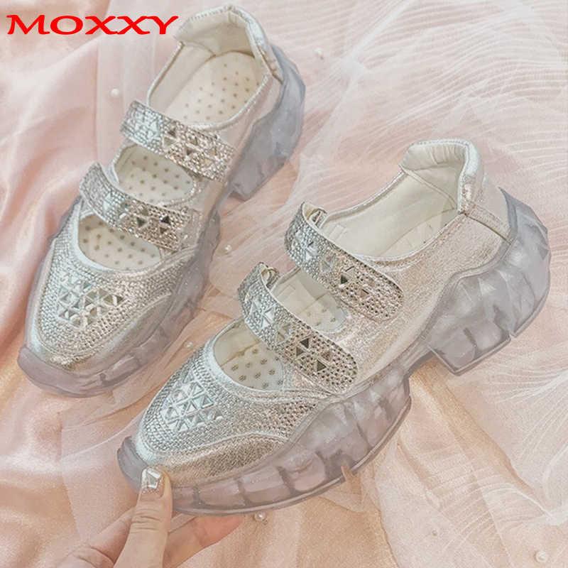Designer Glitter Rhinestone Sneakers Women Platform Sneakers