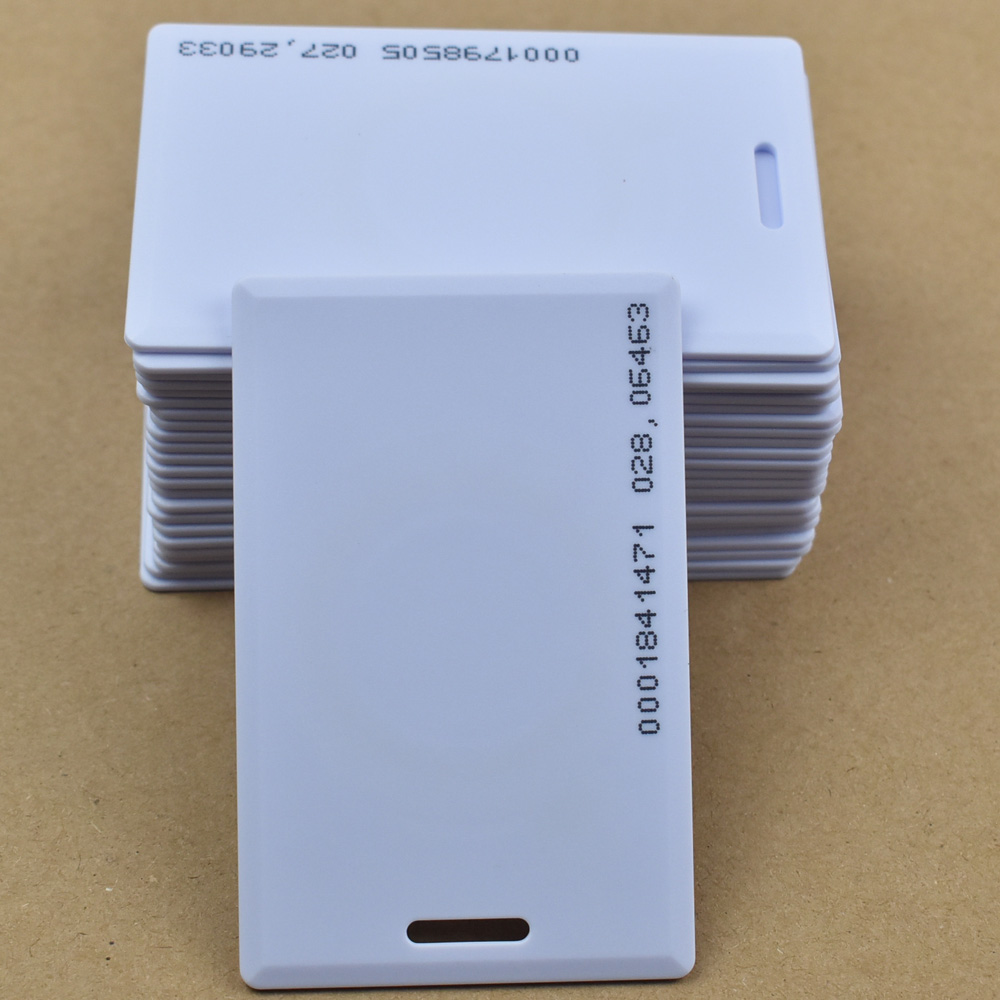 50pcs/lot 125KHz rfid tag EM ID TK4100/EM4100 Thick Card Access Control System card RFID Card non standard die cut plastic combo cards die cut greeting card one big card with 3 mini key tag card