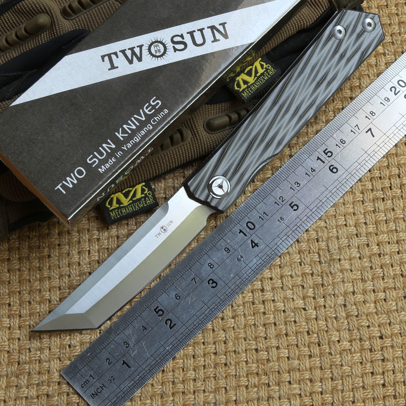 TWO SUN TS33 D2 blade ball brearing folding knife titanium tactical camping hunting Pocket knives outdoor gear Survival EDC Tool slow jig lead fish lure 40g metal jigs 7cm slow jigging lures 8 color 1pcs lot salt water fishing lures