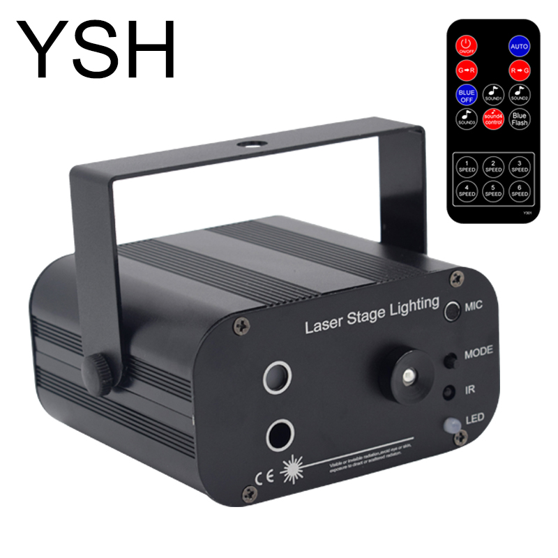 YSH светодиодный лазерный диско шар свет этапа лазерная цветомузыка Новый 48 моделей цветомузыка огни мини лазерный проектор Light для рождеств...