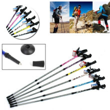 Hiking Poles Adjustable 3-Section Walking Stick Alpenstocks Trekking Pole Parts Travel
