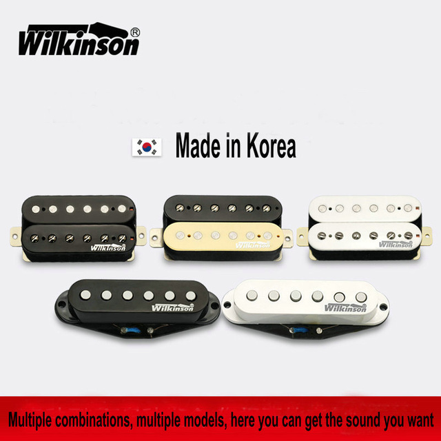 Guitar Pickups Original Wilkinson Alnico V Humbucker Pickups, Single coil Pickups ,Metal rock Pickups Made in Korea