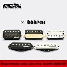 Гитарные пикапы, оригинальные, Wilkinson Alnico V Humbucker пикапы, одна катушка пикапы, Металлические Рок пикапы, сделанные в Корее