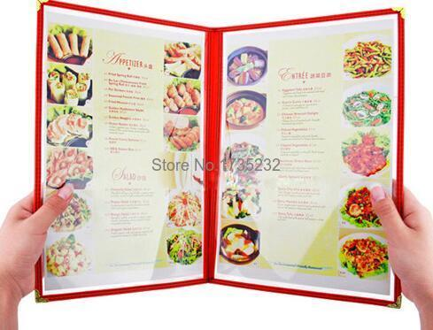 Advertising photo Album A4 2 pages PVC Recipe frame book Restaurant ...