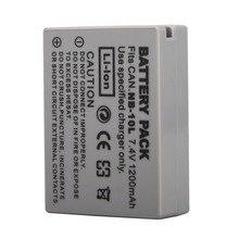 цена на 1PC 7.4V 1200mAh NB-10L NB10L NB 10L Battery Pack for Canon G1X G15 G16 SX40HS SX50HS SX60HS SX40 SX50 SX60 HS Camera Battery