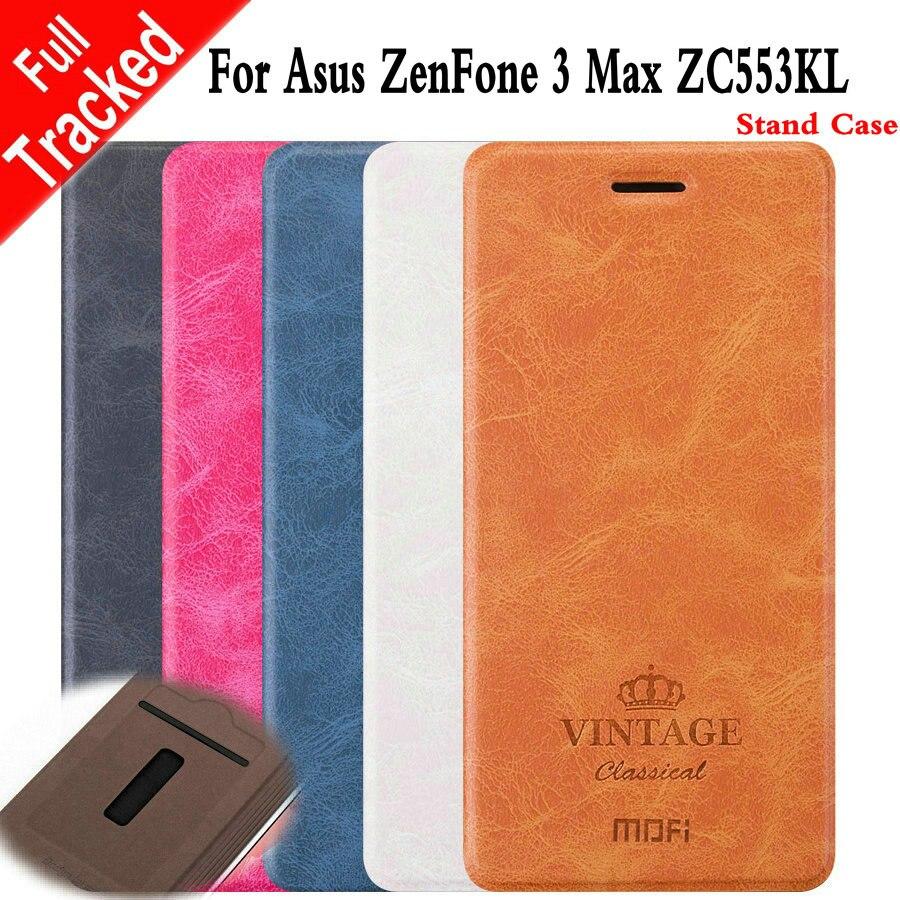 Case for ASUS ZC553KL Zenfone3 Max ZC553 ZC 553 KL 553KL Vintage Flip Phone Leather Cover for ASUS X00DD X00DDA XOODD ASUS_X00DD